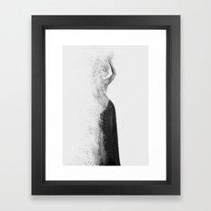 Inconspicuousness 2 (Black & White) Framed Art Print