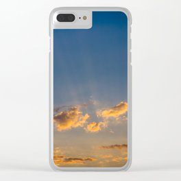 Sunset Sky Clear iPhone Case