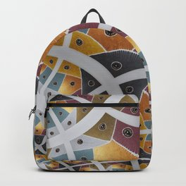 "Fractal of the Painting "" Seven Areas "" Backpack"