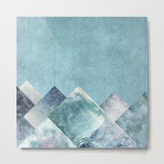Falling Triangles Metal Print