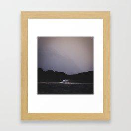 Lonely wave Framed Art Print