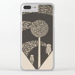 Art Nouveau Dandelion Seeds Clear iPhone Case