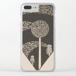 Art Nouveau Dandelion Seeds Clear iPhone Case