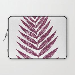 Simple Botanical Design in Dark Plum Laptop Sleeve