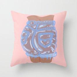 Bubble Butt Throw Pillow