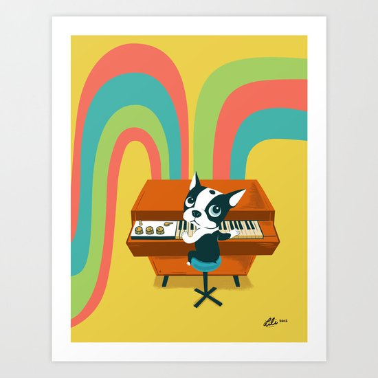 Boogie on Mellotron Art Print