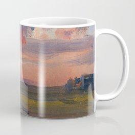 Johan Christian Dahl The Elbe in the Evening Coffee Mug