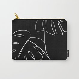 Monstera minimal - black Carry-All Pouch