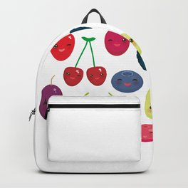 Kawaii Cherry Strawberry Raspberry Blackberry Blueberry Cranberry Cowberry Goji Grape Backpack