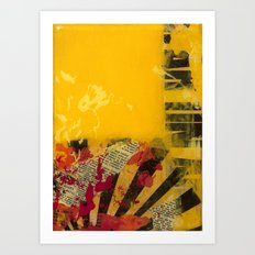 YELLOW 3 Art Print