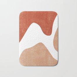 Terracotta Art Print 7 - Terracotta Abstract - Modern, Minimal, Contemporary Print - Burnt Orange Bath Mat