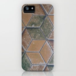 Heidelerg Castle Geometric Floor Tile iPhone Case