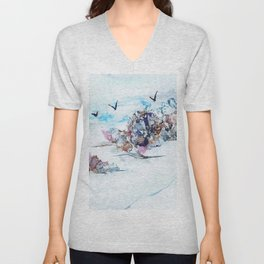 Coral reefs and birds Unisex V-Neck