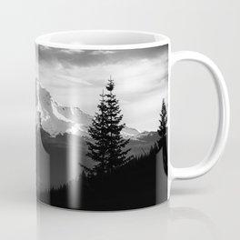 Mount Shasta Morning in Black and White Coffee Mug
