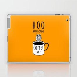 Coffee poster with owl Laptop & iPad Skin