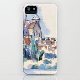 Church at Montigny-sur-Loing (L'Église de Montigny-sur-Loing) (1898) by Paul Cézanne. iPhone Case