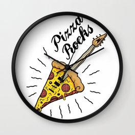 Pizza Rocks - Guitar Slice Wall Clock