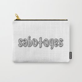SABOTAGES ambigram and impossible font Carry-All Pouch