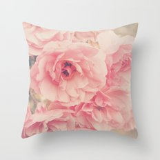 Roses in the Park Throw Pillow