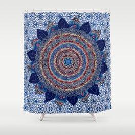 Baroque Lapis Mandala Shower Curtain