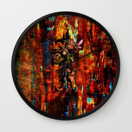 Majora Mask Abstract Wall Clock