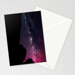 Milky Way Rock Fuchsia Purple Teal Stationery Cards