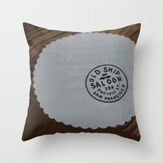 Old Ship Saloon Throw Pillow