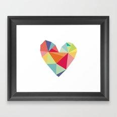 Geometric heart print Framed Art Print