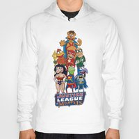 justice league Hoodies featuring Justice League of Muppets by JoshEssel