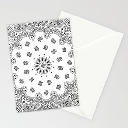 Bandana - White - Paisley - Southwestern Stationery Cards