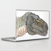 t rex Laptop & iPad Skins featuring T-Rex by Raffles Bizarre