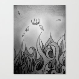 Fallen to Fire Canvas Print