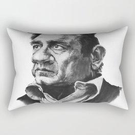 Johny Cash Caricature Rectangular Pillow