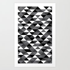 Triangle Pattern #4 Art Print