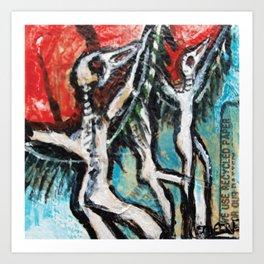Bird Spirits ritual Art Print