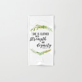 She is Clothed with Strength and Dignity (Proverbs) Hand & Bath Towel