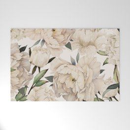 Peonies Pattern Welcome Mat