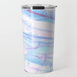 Pastel Marble with Blue Green Purple Travel Mug