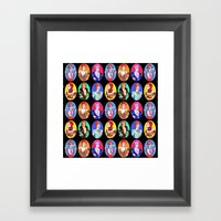 Glam Bowie Spaced Out Framed Art Print
