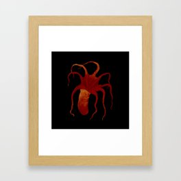 Red Octopus Framed Art Print