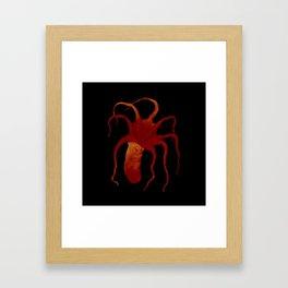Red Octopus Framed Art Print