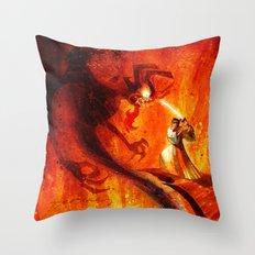 Samurai Jack VS Aku Throw Pillow
