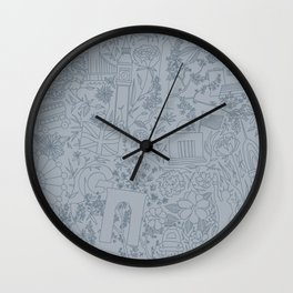 DC NYC London - Powder Blue Wall Clock