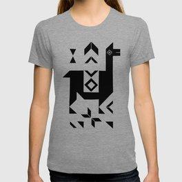 Llamas_Gray & Black T-shirt