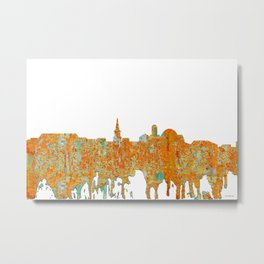Alexandria, Virginia Skyline - Rust Metal Print