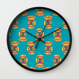 Inequal pizza time Wall Clock