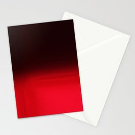 Red Ombré Block Design Stationery Cards