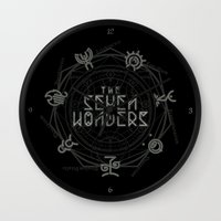 coven Wall Clocks featuring The Seven Wonders by Barn Bocock
