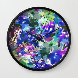 Blue Butterfly Garden Wall Clock