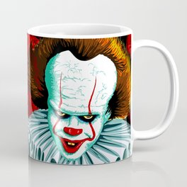 The Dancing Clown - Pennywise IT - Vector - Stephen King Character Coffee Mug